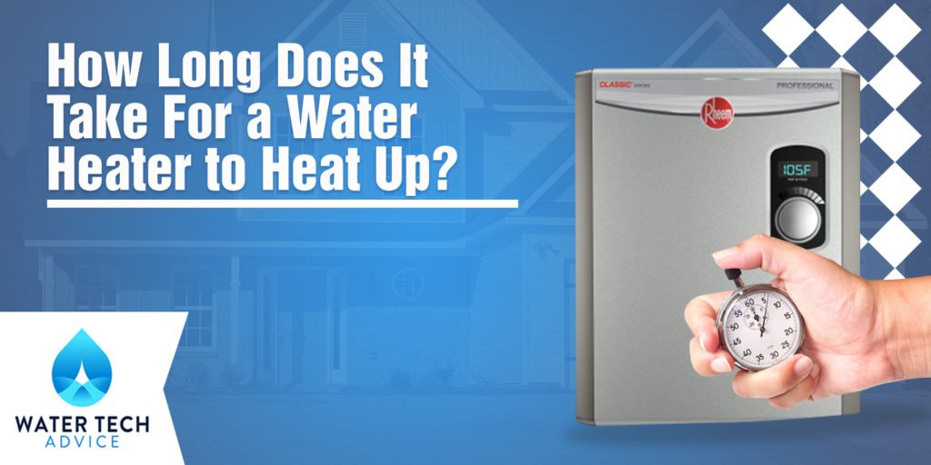 water heater heat up time