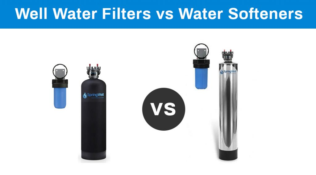 water filters vs softeners