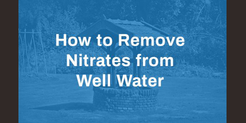 how to remove nitrates from well water