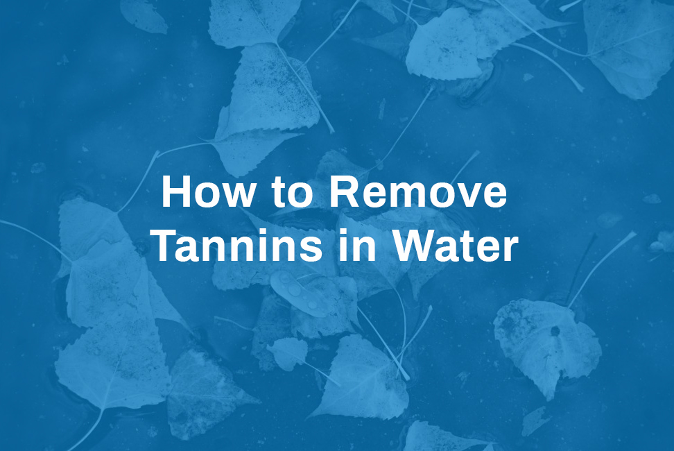 how to remove tannins in water