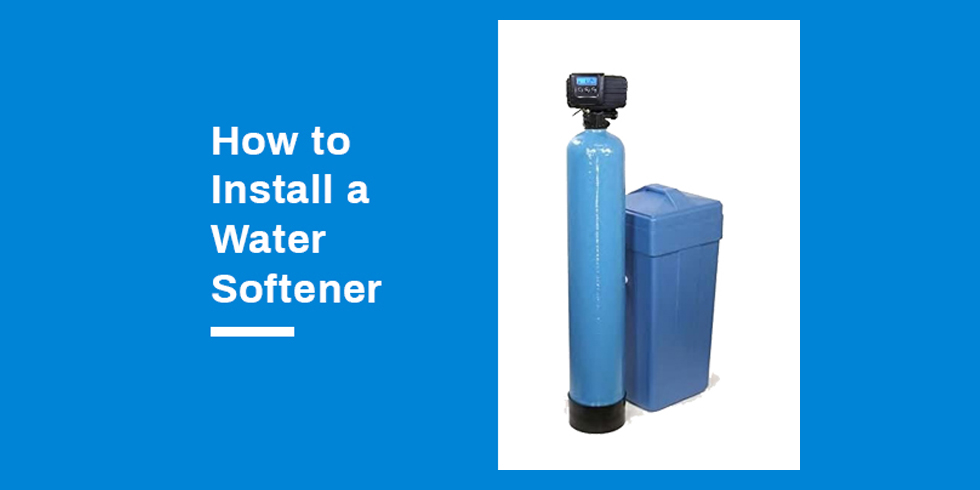 how to install a water softener